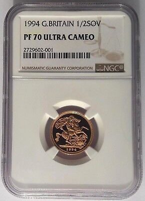 1994 Gold Half Sovereign NGC PF70 Ultra Cameo