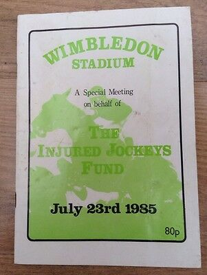 WIMBLEDON STADIUM 1985 greyhound programme