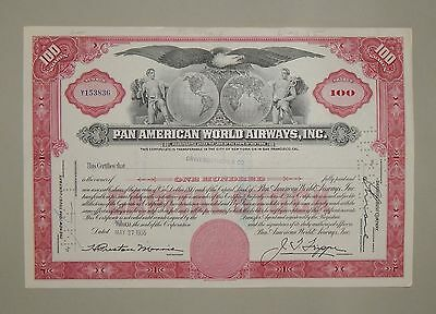 """Pan American World Airways Inc."" 100 Shares 1955 - common stock / Aktie"