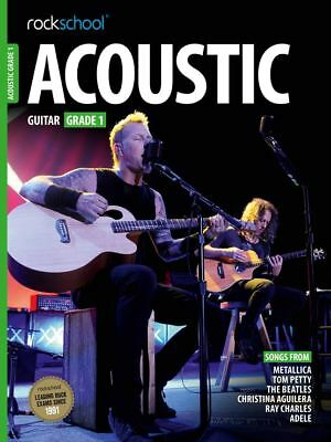Rockschool Acoustic Guitar Grade 1 TAB Music Book with Audio Access Tests Exams