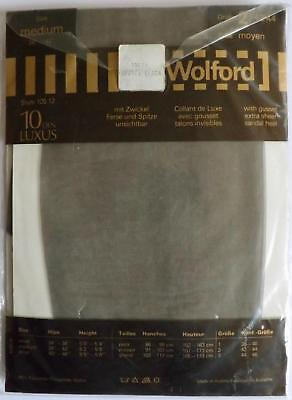Vintage WOLFORD 10 Den Tights Nearly Black Size Medium Extra Sheer