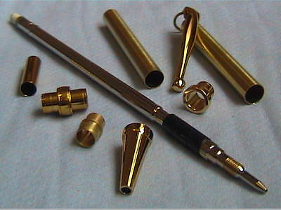 Woodturning Pencil Kits x1 - Fancy style - Gold/Chrome/Gun Metal/Copper/Silver