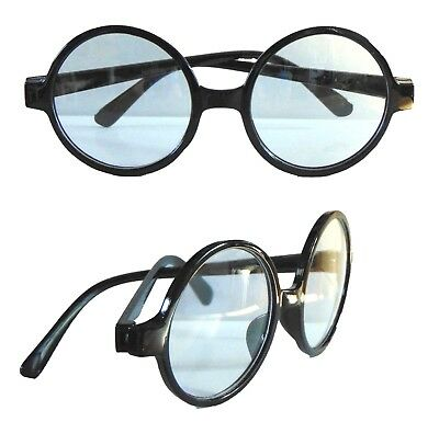Wizard Round Glasses Clear Lens Geek Wheres Wally Harry Potter Fancy Dress