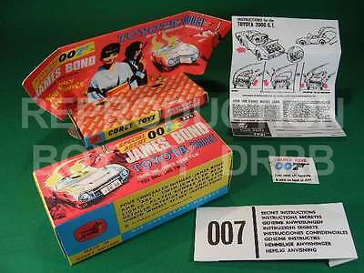 Corgi #336 James Bond Toyota - Reproduction Box by DRRB