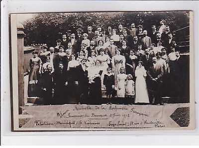VINCENNES : carte photo du banquet de la l'union mutuelle de la parfumerie