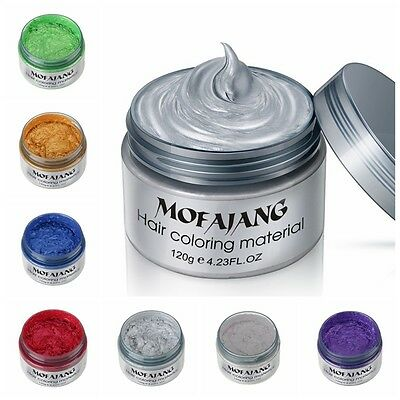 7 Colors Unisex DIY Hair Color Wax Mud Dye Cream Temporary Modeling Gift