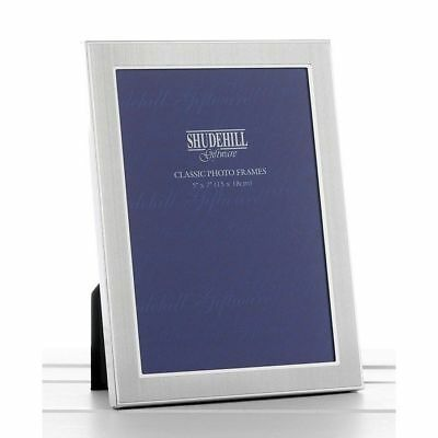 "Plain Satin 5"" x 7"" Silver Classic Photo Frame Gift Present"