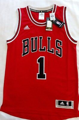 Brand New Adidas Derrick Rose Jersey - Chicago Bulls - Adult Sizes: S, M, L