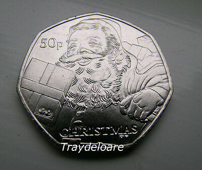 Uncirculated Isle Of Man Christmas 2011 50P Coin - Father Christmas