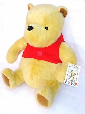"Classic Disney Winnie The Pooh Large 16"" Golden Bear Soft Toy Plush with Tag"