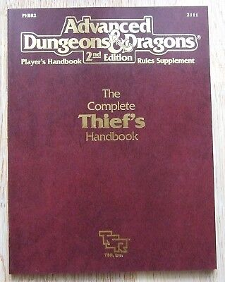 AD&D 2nd Edition The Complete Thief's Handbook