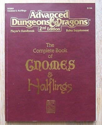 AD&D 2nd Edition The Complete Book of Gnomes & Halflings
