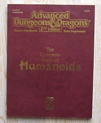 AD&D 2nd Edition The Complete Book of Humanoids