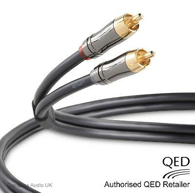 QED Performance AUDIO 0.6m Stereo RCA - RCA Phono Interconnect Cable Graphite
