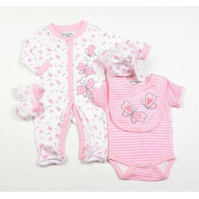 Baby Clothes 5 Piece Gift set girl layette Watch Me Grow Pink  0-3m - 9 months