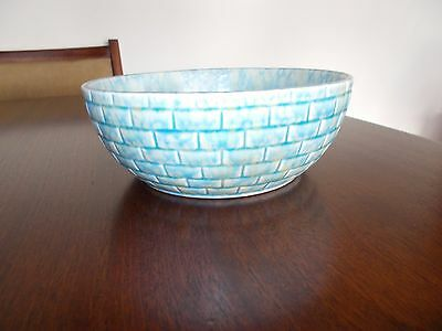 Wade Heath Flaxman  bowl. Blue/lemon fleck 19.5cm x 8cm