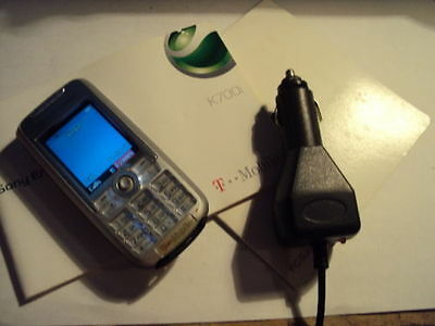 Retro  Sony Ericsson K700I  Mobile Phone On Virgin/t-Mobile+Manual+Car Charger