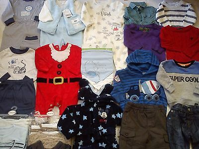 New Used Amazing 37 Next River Island Disney Bundle Baby Boy Clothes 3/6 Mths (5