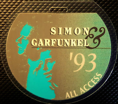 ** Simon & Garfunkel ** - 1993 All Access Laminated Concert Tour Backstage Pass