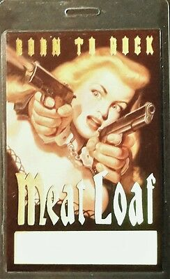 **** MEAT LOAF **** LAMINATED BACKSTAGE PASS 1994 beautiful foiled BORN TO ROCK