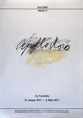 Cy Twombly Plakat 1977