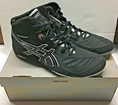 NEW in Box ASICS Mens Snapdown Wrestling Shoes Black Silver 11 M US J502Y-9093