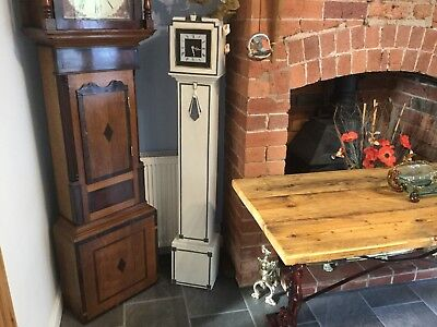 Antique  art deco grand mother/ grandfather clock with a difference  is working