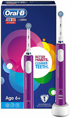 Oral-B Junior Electric Rechargeable Toothbrush Powered by Braun, Ages 6+