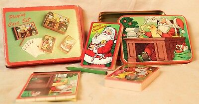 Vintage Holiday Playing Card set