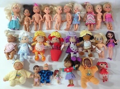 Small Dolls Bundle ~ Kelly Dolls, Miss Muffin & Others ~ Very Cute Joblot