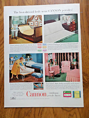 1953 Cannon Combspun Percale Sheets Ad