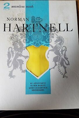 Vintage Norman Hartnell 1 pair of thigh high Yellow Tulips Size 9 1/2