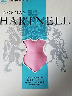 Vintage Norman Hartnell 2 pairs Thigh high Pink Size 9 1/2