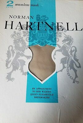 Vintage Norman Hartnell 2 Pairs  thigh highs Bone Size 9 1/2