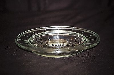Old Vintage 30's Colonial Block Clear by Hazel Atlas Butter Tub Dish Bottom Only