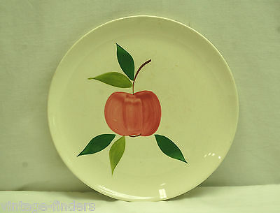 "Old Vintage 9-5/8"" Dinner Plate w Apple Pattern"