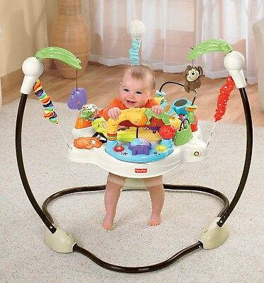 Luv U Zoo Jumperoo Fisher Price Baby Bouncer Jumper New Activity Seat