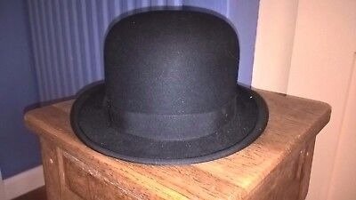 Vintage bowler hat by Dunn and Co., size 56, excellent condition