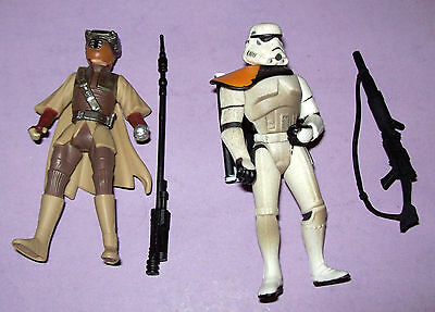 2 - 1996 Star Wars Action Figures - Princess Leia & Storm Trooper