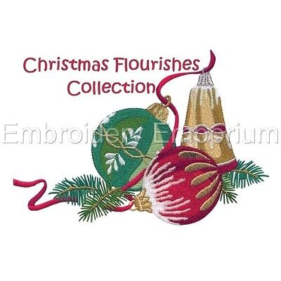 Christmas Flourishes Collection - Machine Embroidery Designs On Cd