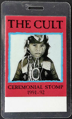 **** The Cult **** - Ceremonial Stomp Tour 1991-1992 - Laminated Backstage Pass