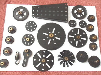 Meccano Black Gears Fan Eccentric Pulleys + Odds