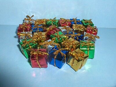 Dollhouse Miniature Foil Wrapped Christmas Presents/gifts Pack Of 24