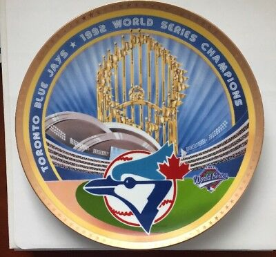 Toronto Blue Jays 1992 World Series Champions Plate By Sports Impressions