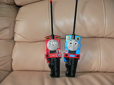 2 Vintage THOMAS TANK ENGINE JAMES RED ENGINE Morse Code Walkie Talkie RARE TOY