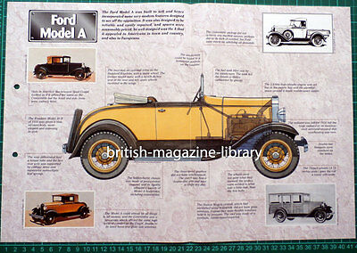 Ford Model A - Technical Cutaway Drawing