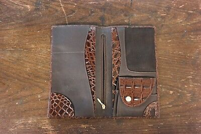Genuine Filofax Delux Leather Pocket Size Purse / Organiser, Croc