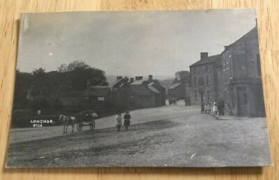 Derbyshire Rare Rp Postcard Of Longnor.posted 1922.published By R.bull Ashbourne