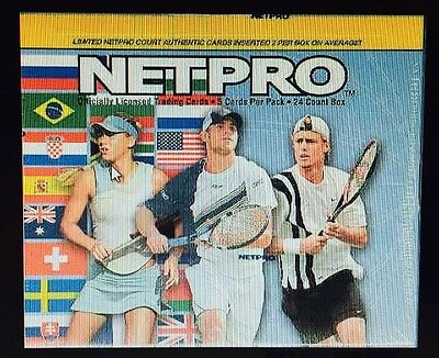 Netpro International Tennis 10 Box Hobby Case 2003 Serena Kournikova Federer