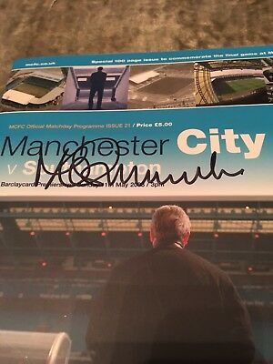 MANCHESTER CITY PROGRAMME LAST GAME AT MAINE ROAD 2003 Signed By Mike Summerbee